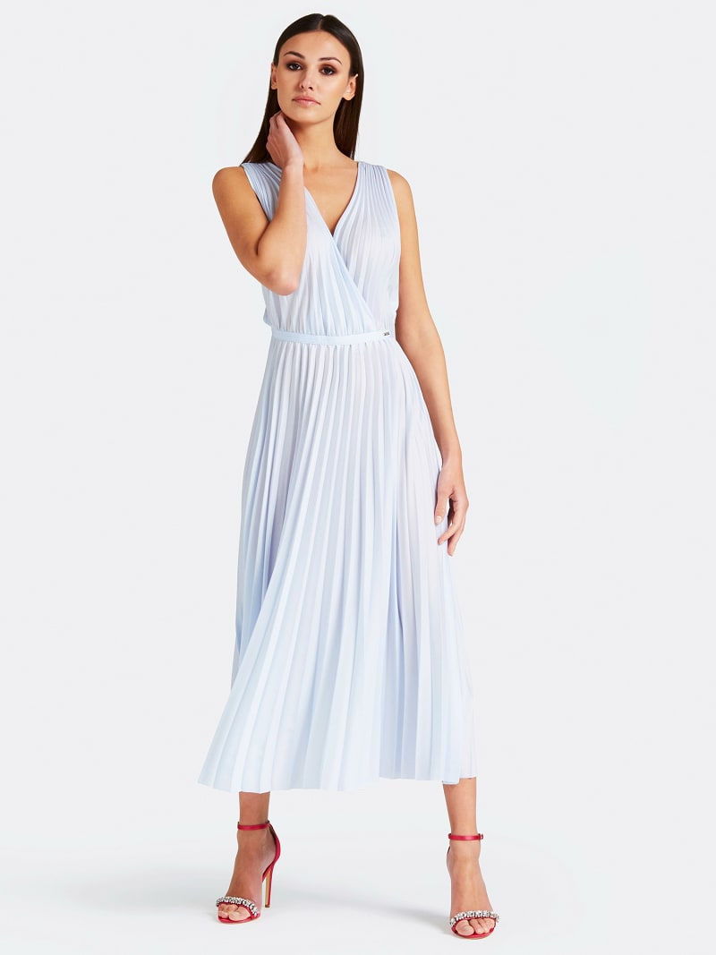 MARCIANO PLEATED DRESS image number 0