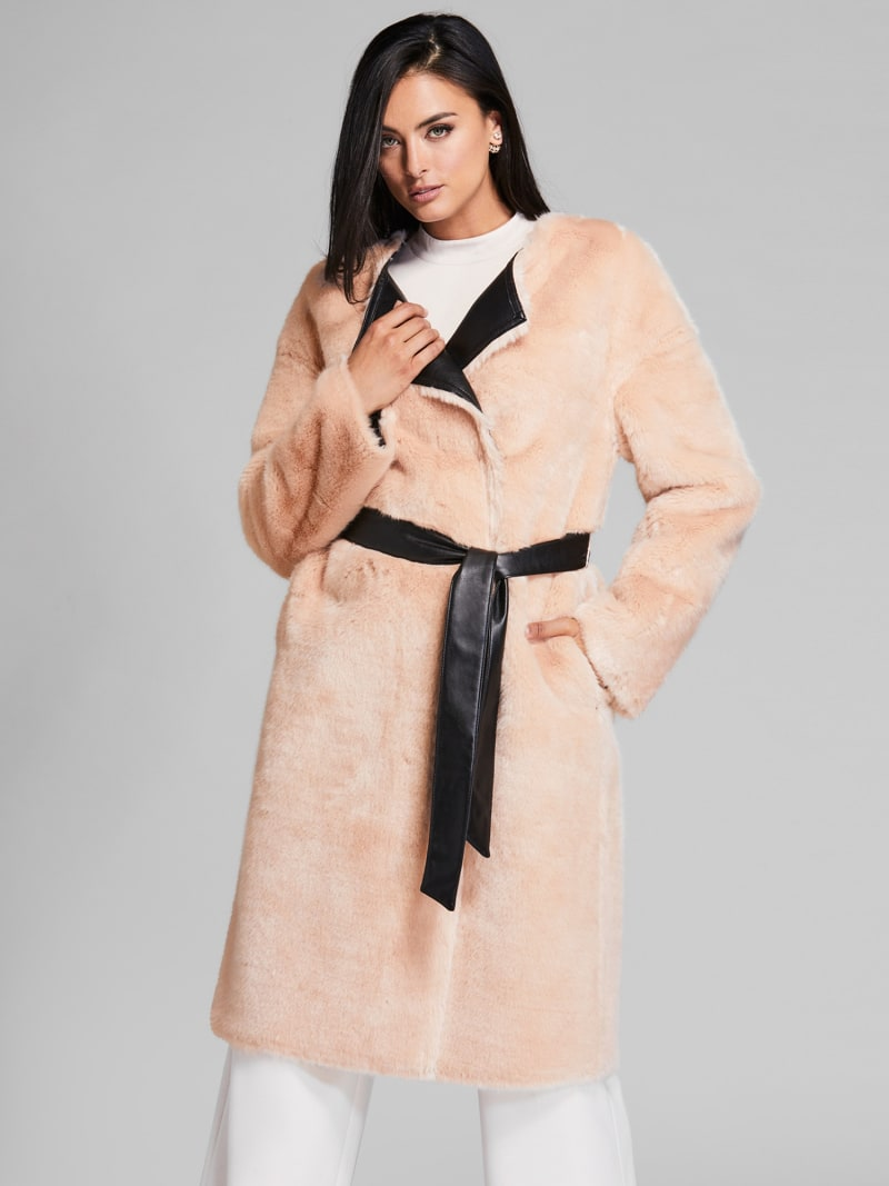 MARCIANO COATED-LOOK COAT image number 0