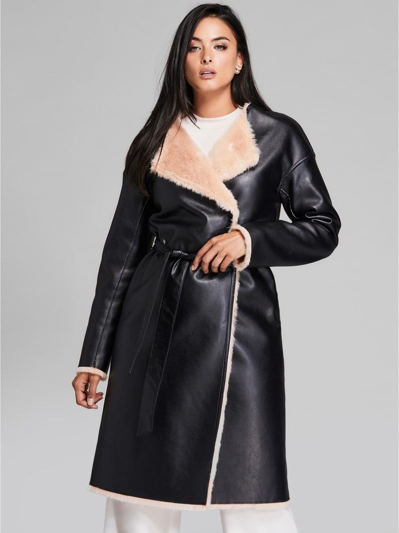 MARCIANO COATED-LOOK COAT image number 1