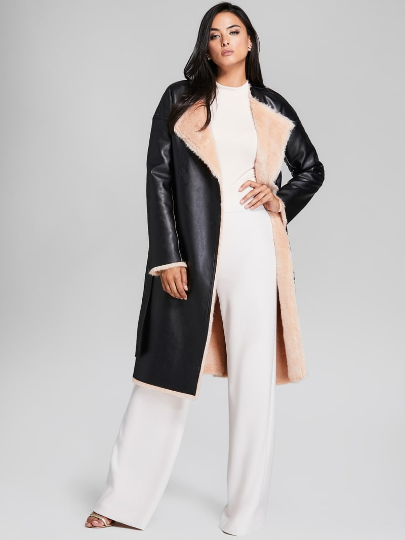 MARCIANO COATED-LOOK COAT image number 2