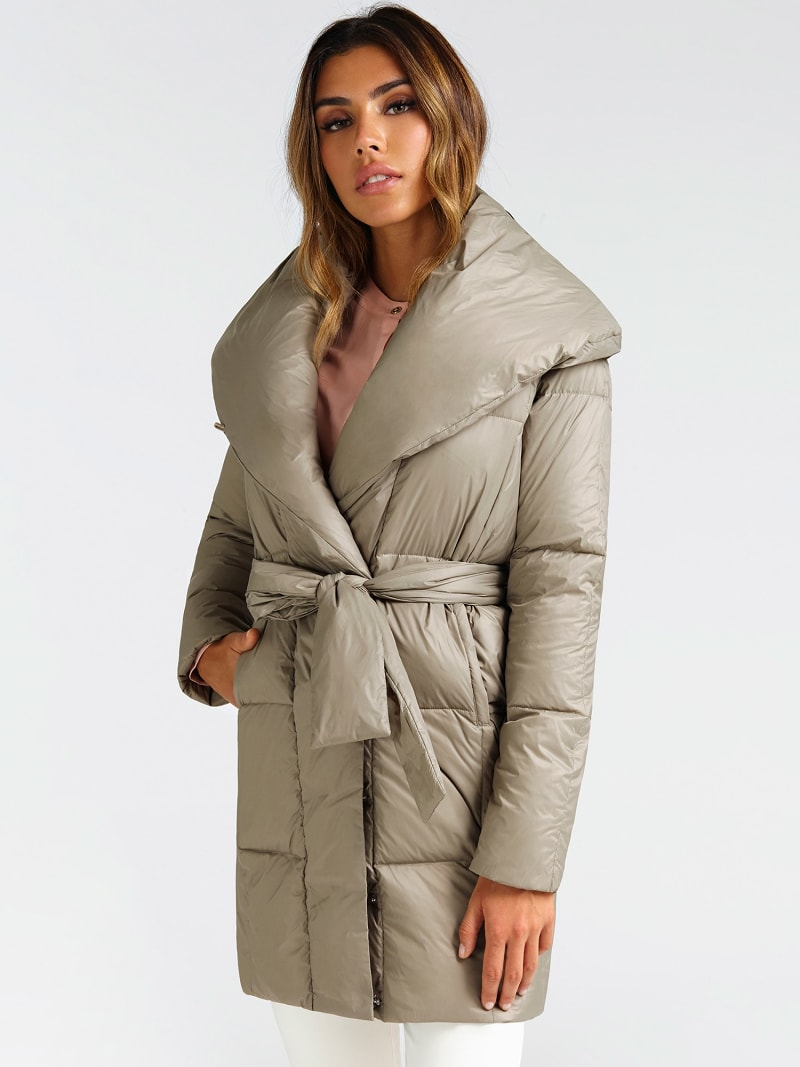 MARCIANO BELTED PUFFER COAT image number 0