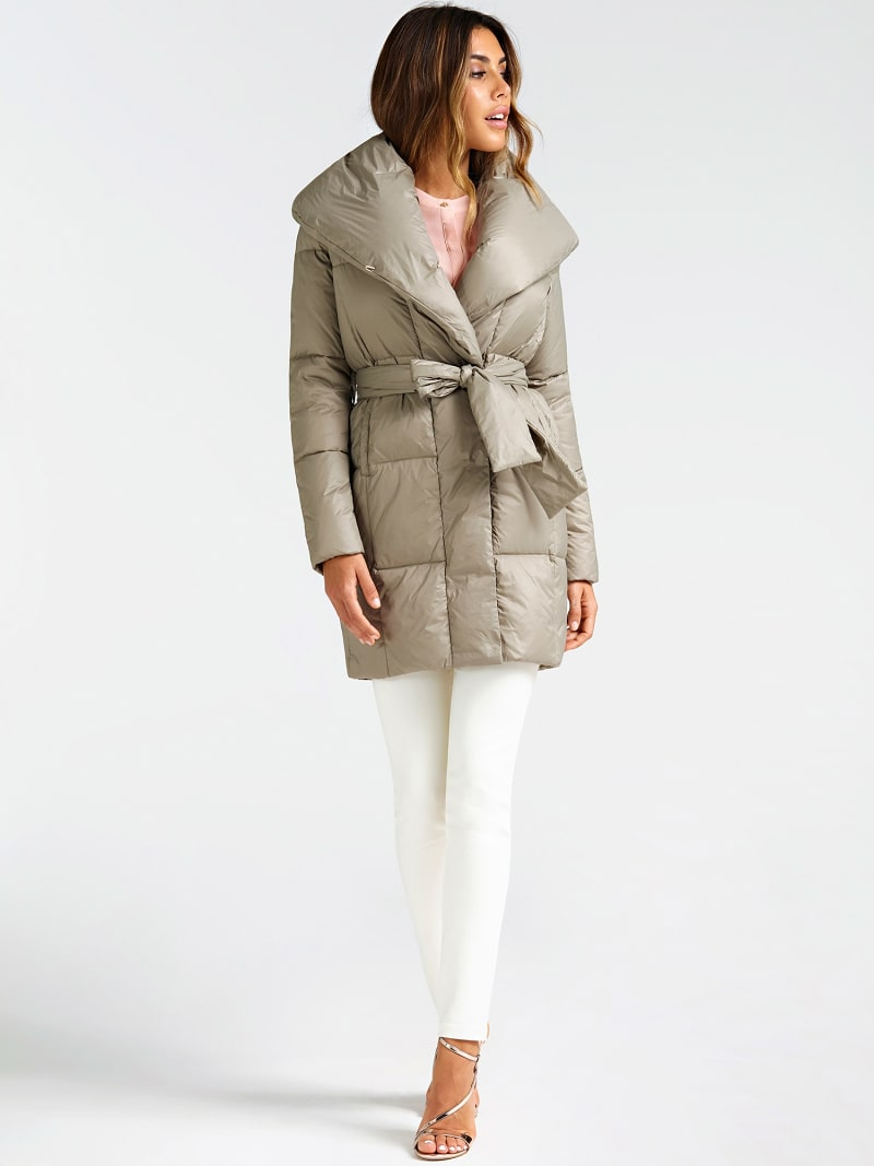 MARCIANO BELTED PUFFER COAT image number 1