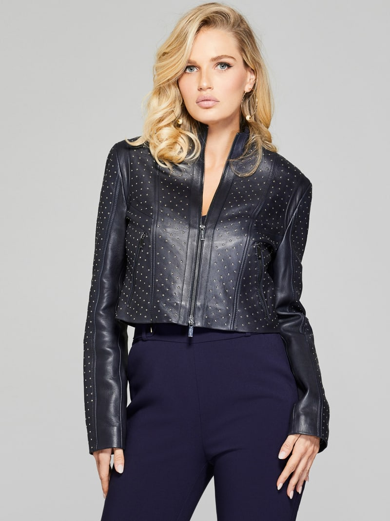 MARCIANO LEATHER STUD JACKET image number 1