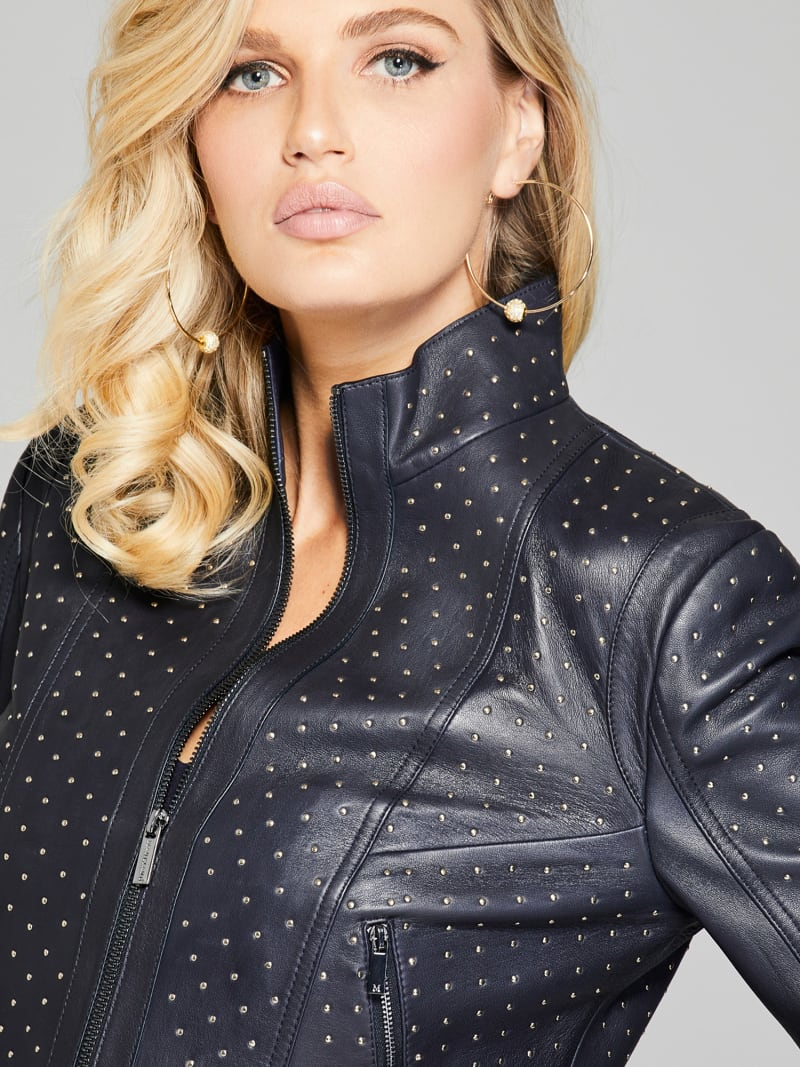 MARCIANO LEATHER STUD JACKET image number 3