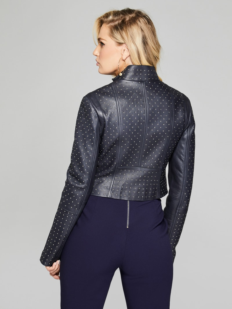 MARCIANO LEATHER STUD JACKET image number 4