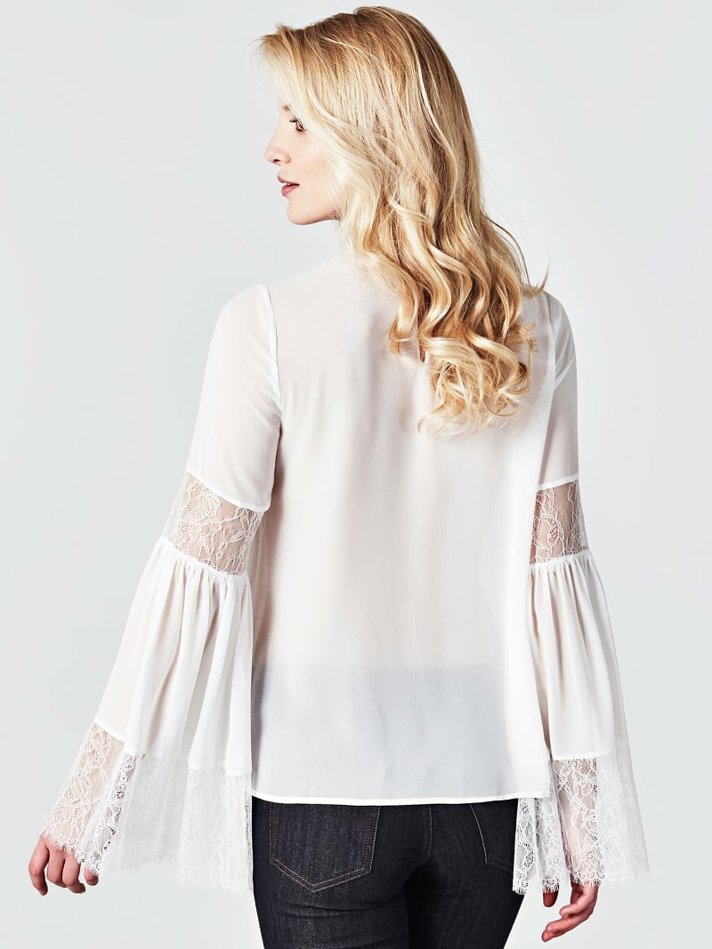 BLUSE MARCIANO DETAILS AUS SPITZE image number 2