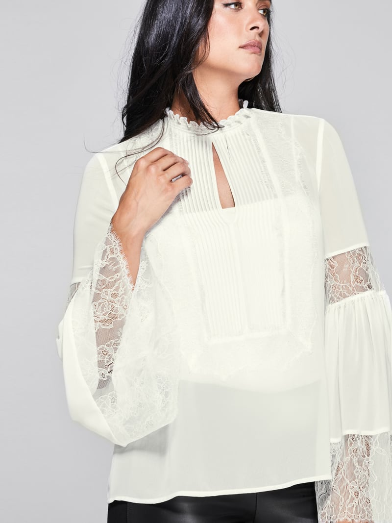 BLUSE MARCIANO DETAILS AUS SPITZE image number 3