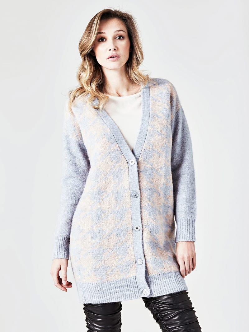 MARCIANO GEOMETRIC PATTERN CARDIGAN image number 0
