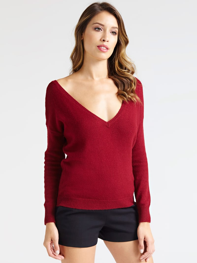 MARCIANO V NECK SWEATER image number 0