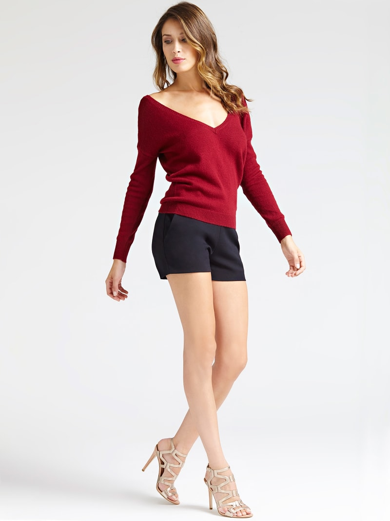 MARCIANO V NECK SWEATER image number 1