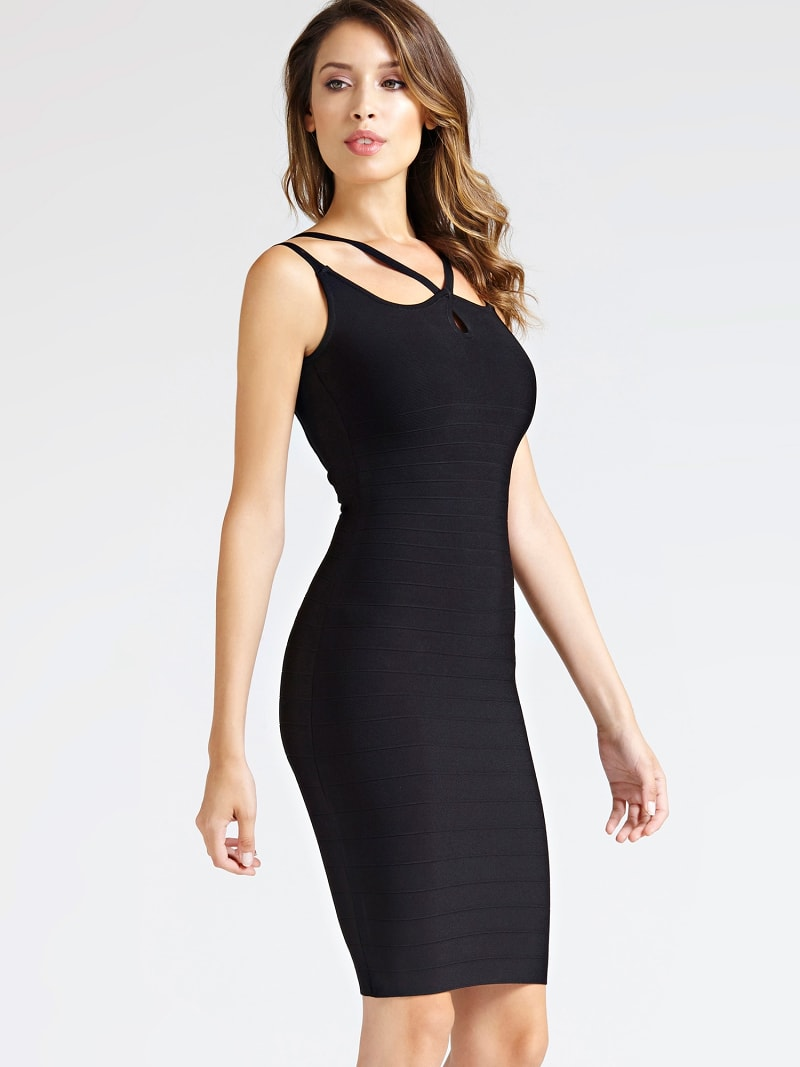 MARCIANO STRAPPY BANDAGE DRESS image number 0