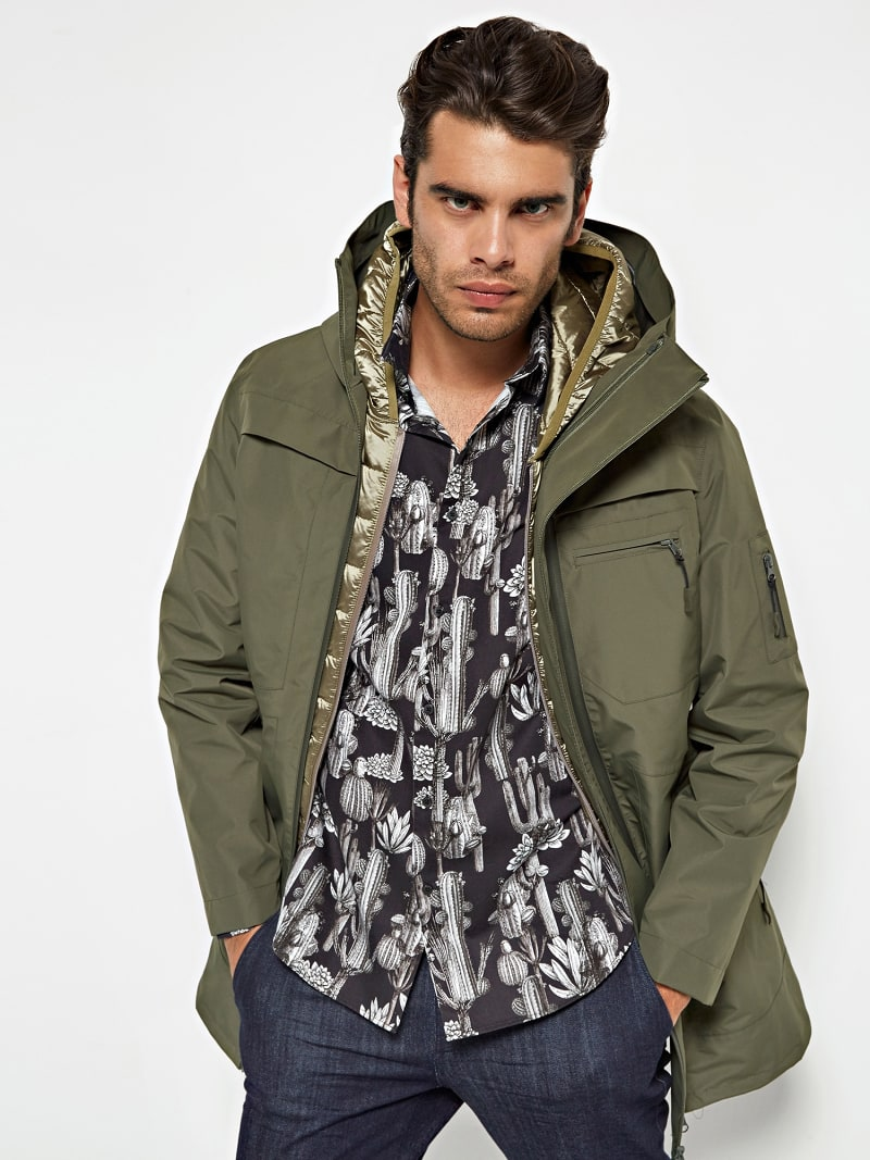 MARCIANO QUILTED-LOOK JACKET image number 0