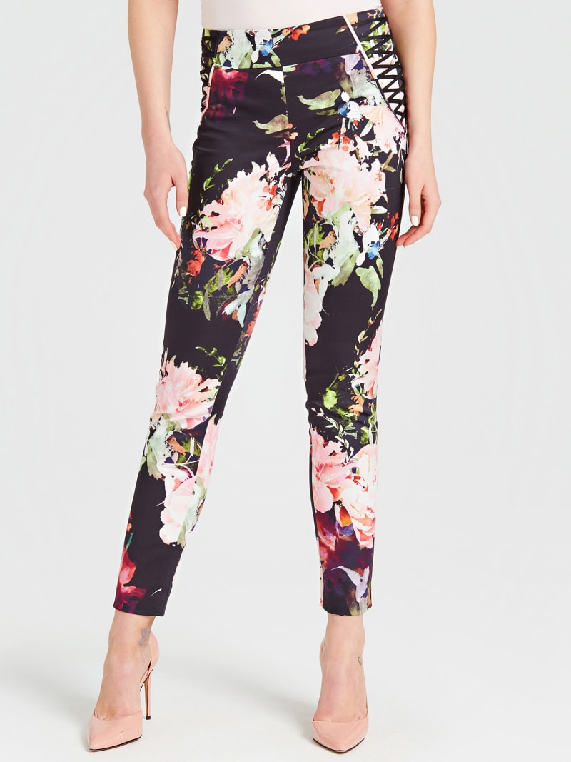 MARCIANO FLORAL PATTERN PANTS image number 0