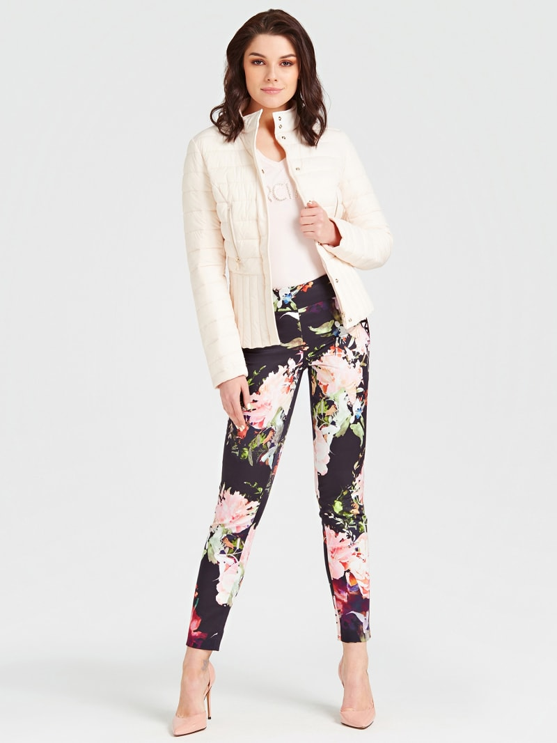 MARCIANO FLORAL PATTERN PANTS image number 1