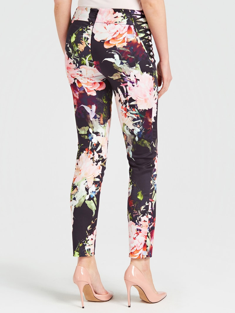 MARCIANO FLORAL PATTERN PANTS image number 2