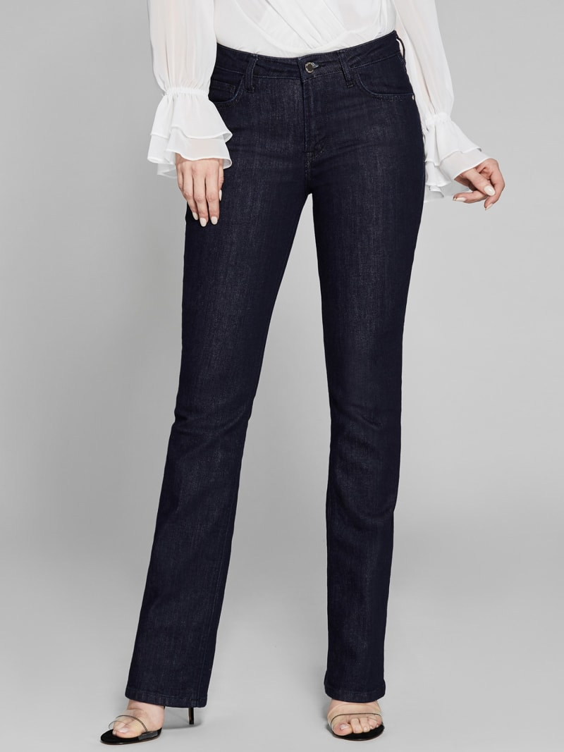 MARCIANO FLARED DENIM PANTS image number 1