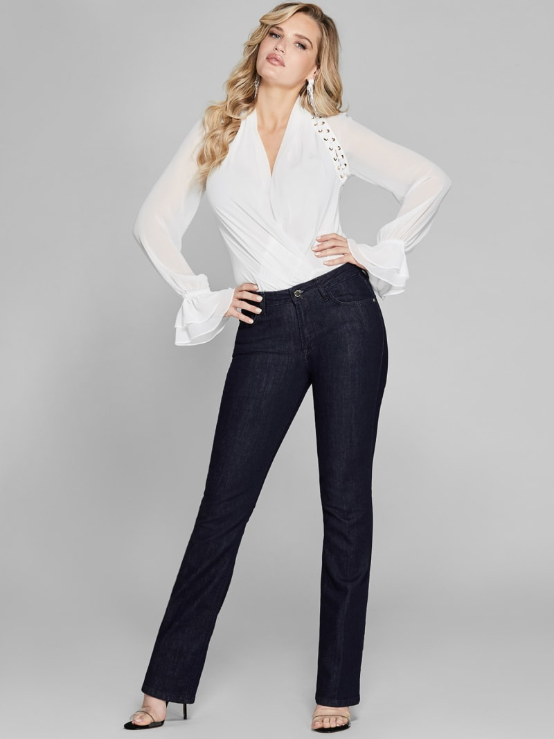 MARCIANO FLARED DENIM PANTS image number 2