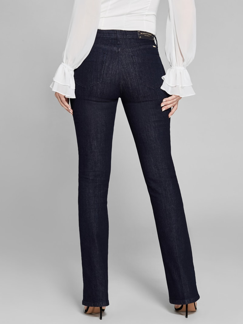 MARCIANO FLARED DENIM PANTS image number 4