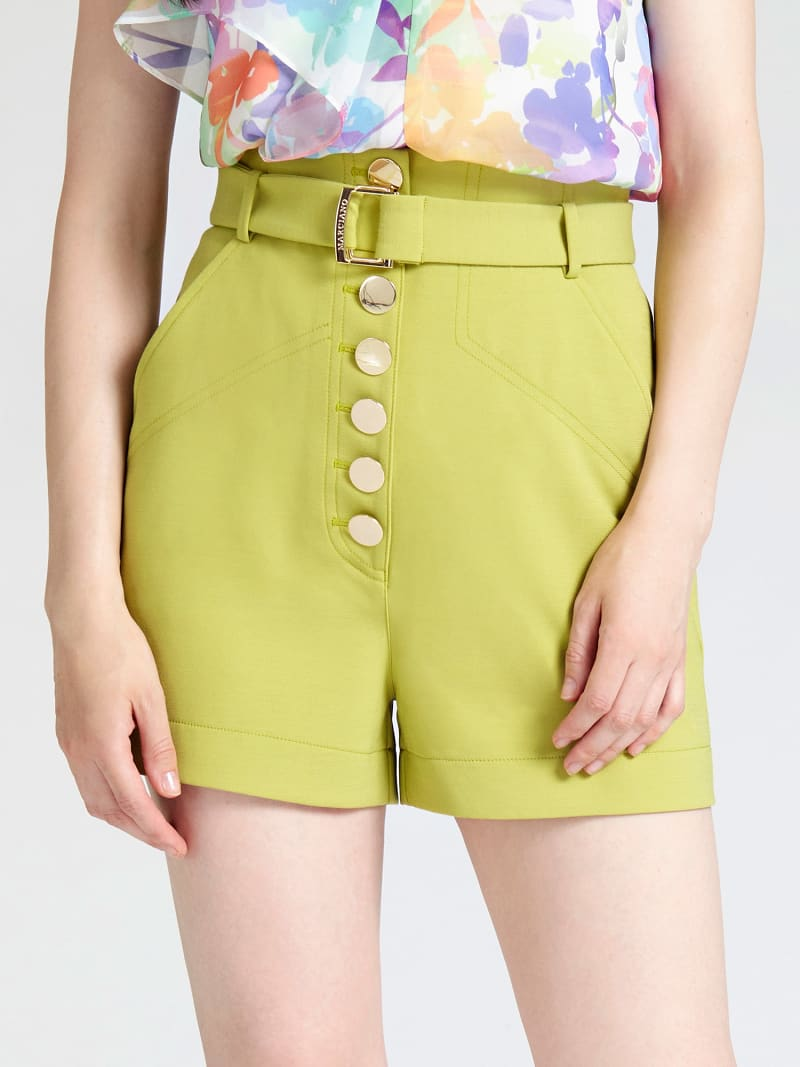 MARCIANO SHORTS WITH BUTTON DETAIL image number 0