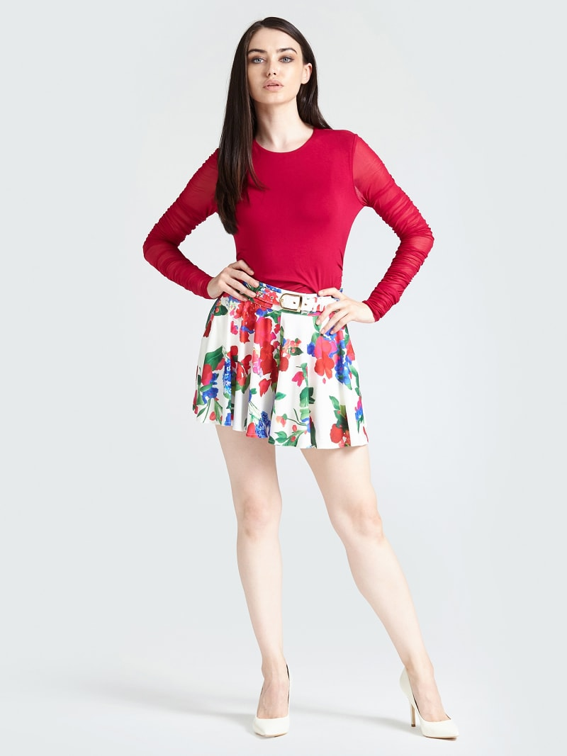 MARCIANO FLORAL SKIRT image number 1