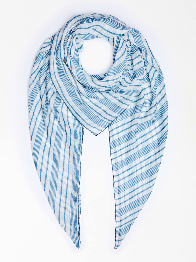 MARCIANO STRIPE MOTIF SCARF image number 1