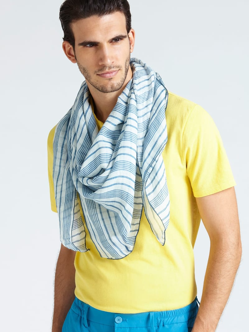 MARCIANO STRIPE MOTIF SCARF image number 2