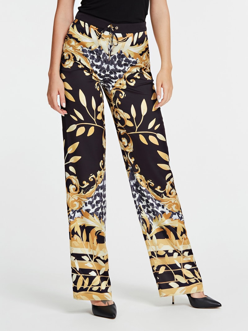 PANTALON MARCIANO FANTAISIE FEUILLES image number 0