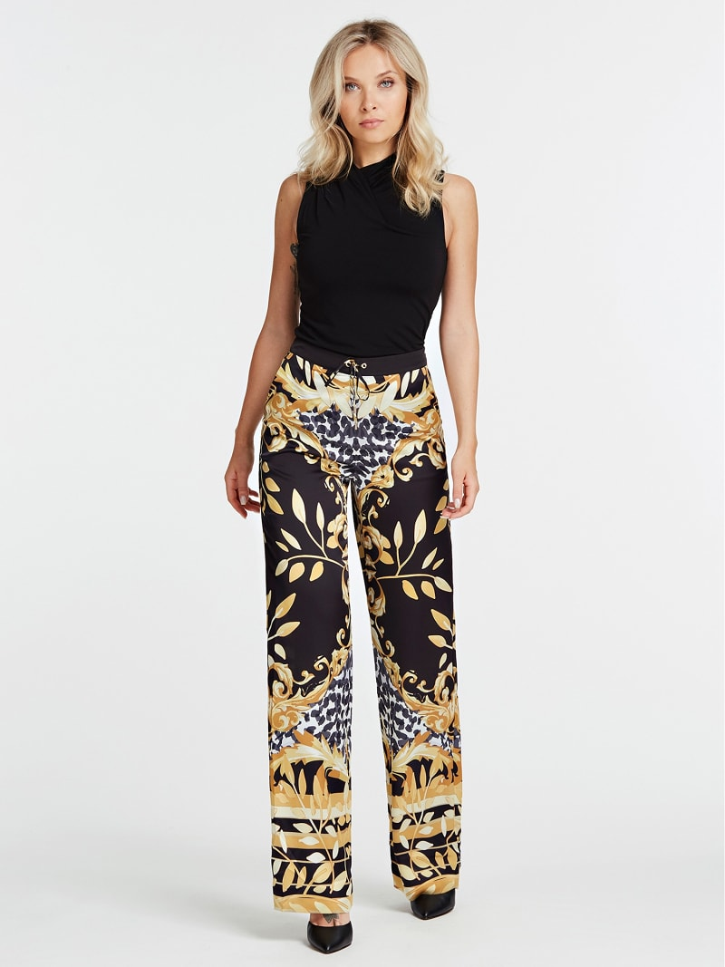 PANTALON MARCIANO FANTAISIE FEUILLES image number 1