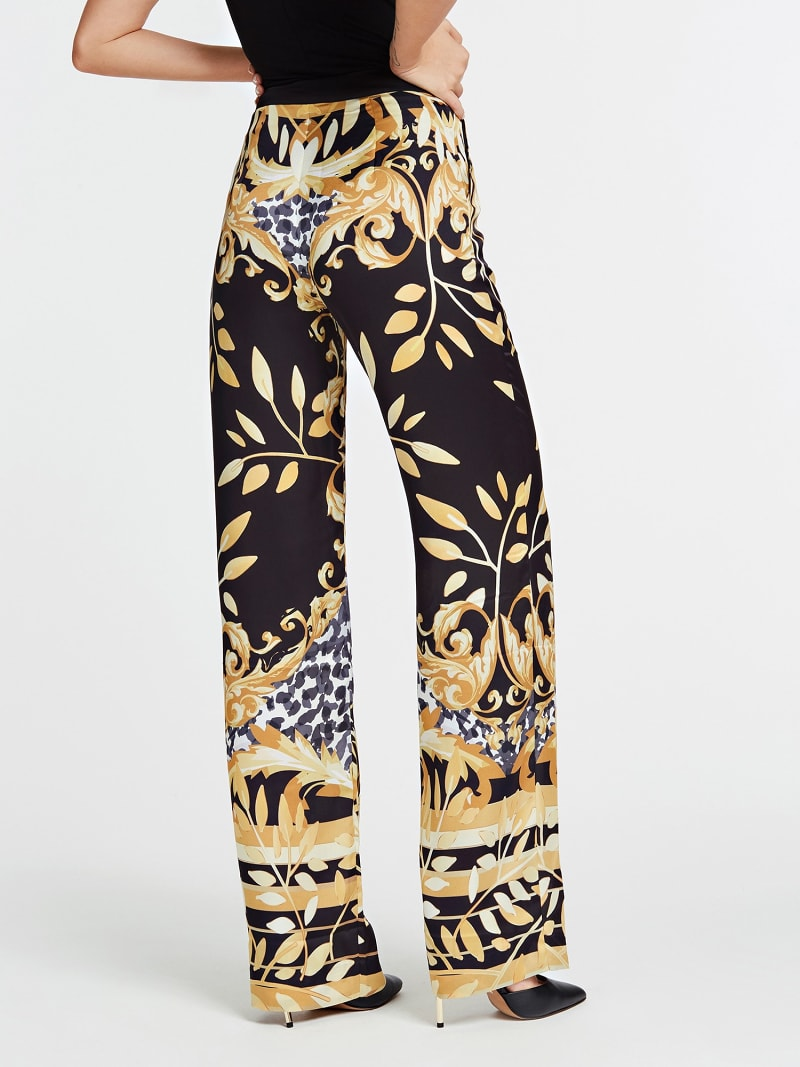 PANTALON MARCIANO FANTAISIE FEUILLES image number 2