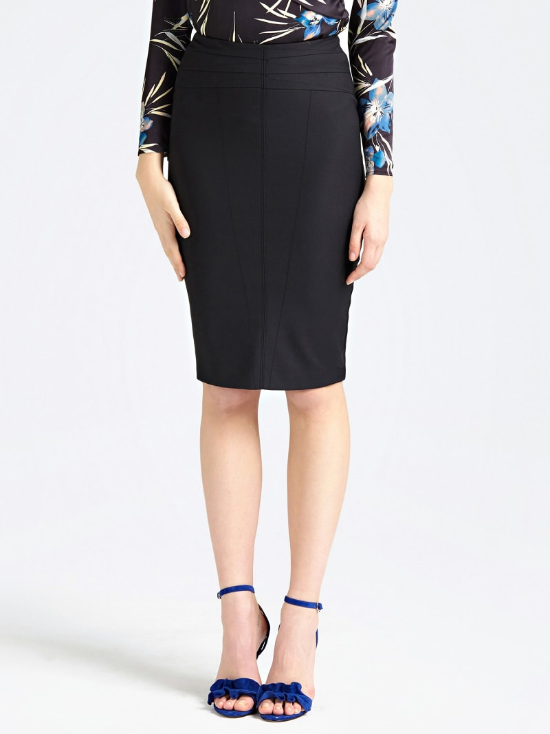 MARCIANO PENCIL SKIRT WITH BACK SLIT image number 0