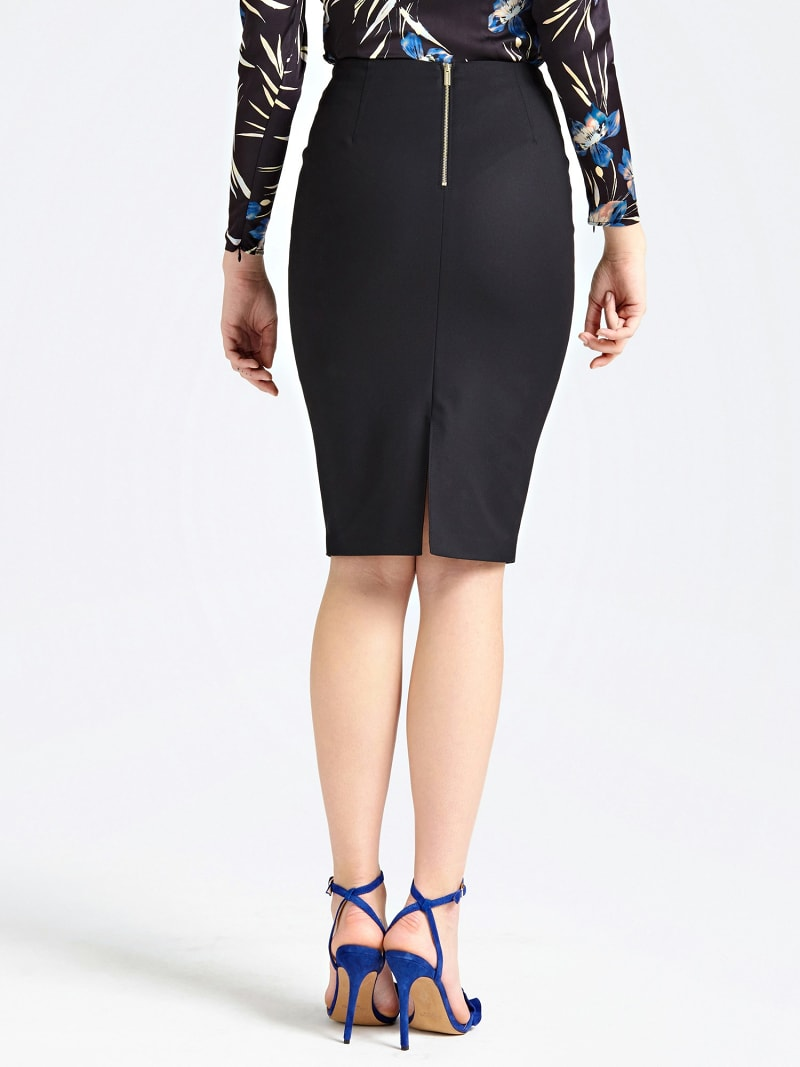 MARCIANO PENCIL SKIRT WITH BACK SLIT image number 2