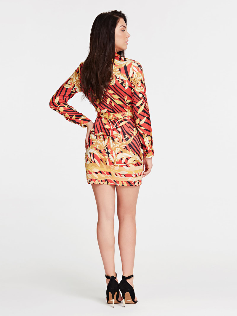MARCIANO FLORAL PATTERN DRESS image number 1