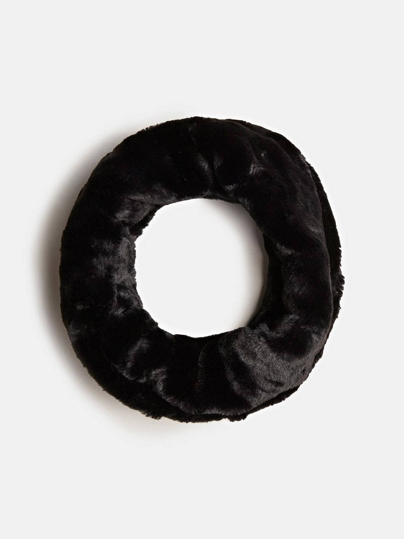 FAUX FUR WOOL NECK WARMER image number 0