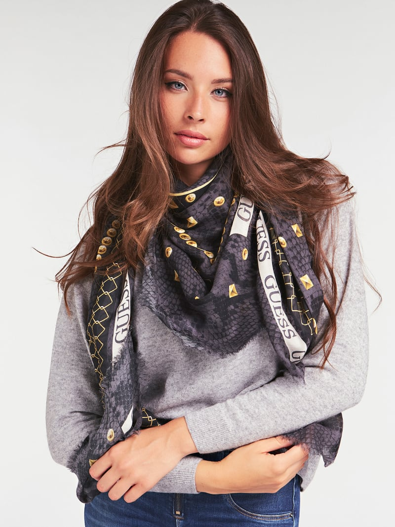 KIRBY PYTHON PRINT LOGO SCARF image number 2