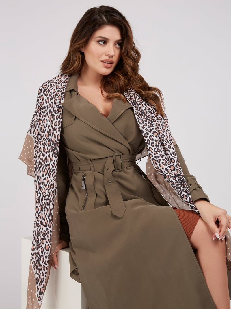 ANIMALIER PRINT CASHMERE KEFIAH image number 1