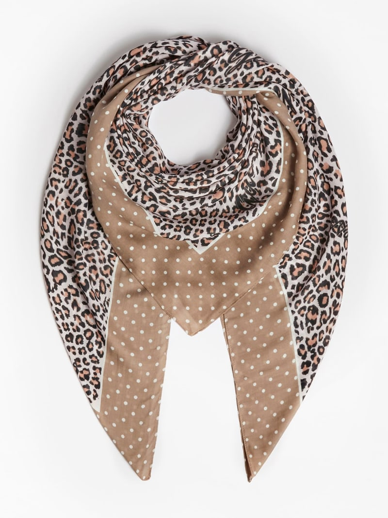 ANIMALIER PRINT CASHMERE KEFIAH image number 2