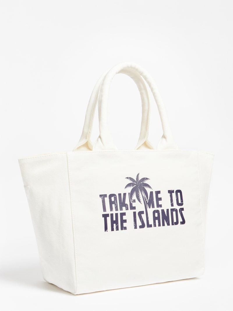 FRONT LOGO WASHED BEACH BAG image number 2