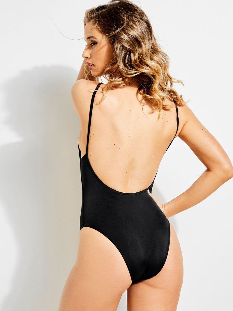 MONOKINI WITH LOGO ON THE FRONT image number 2