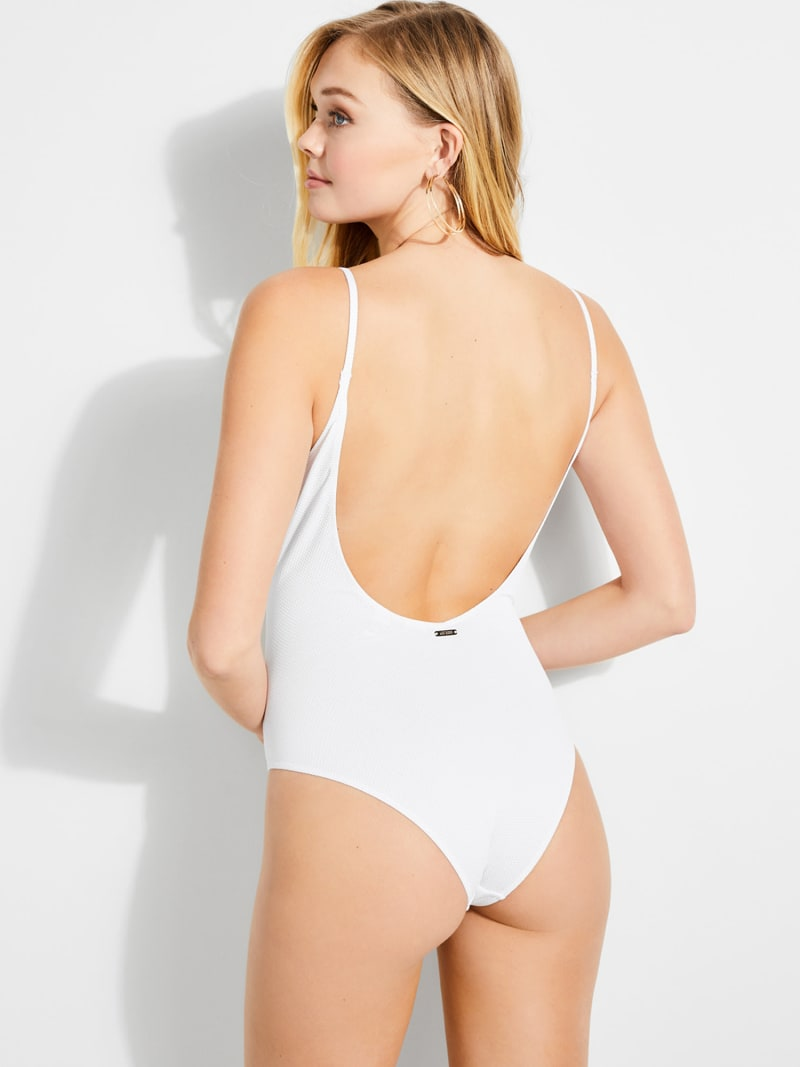 LACE-UP FRONT SWIMSUIT image number 2