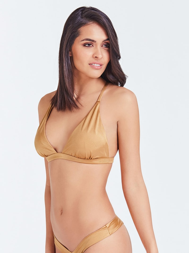 CROSSOVER TRIANGLE BIKINI TOP  image number 0