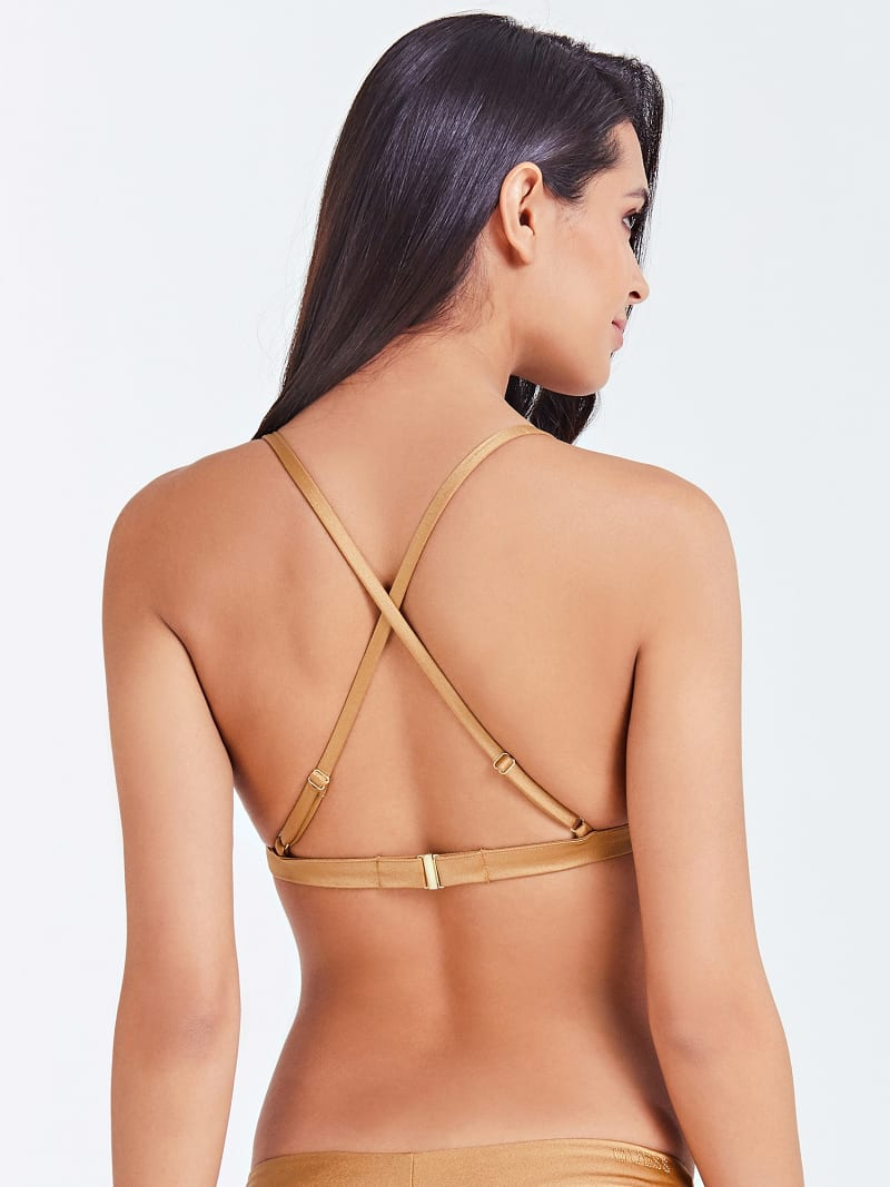 CROSSOVER TRIANGLE BIKINI TOP  image number 2