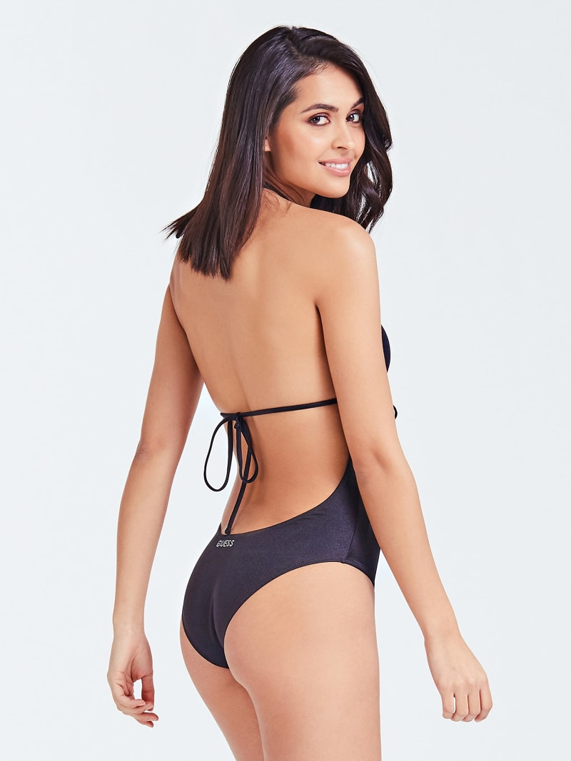ONE-PIECE SWIMSUIT FRONT OPENING image number 1