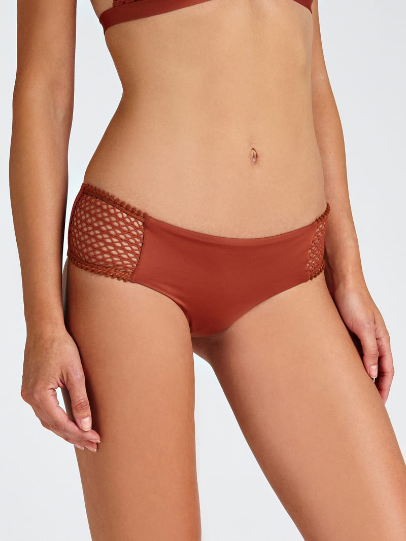 PERFORATED-LOOK BIKINI BRIEFS image number 0