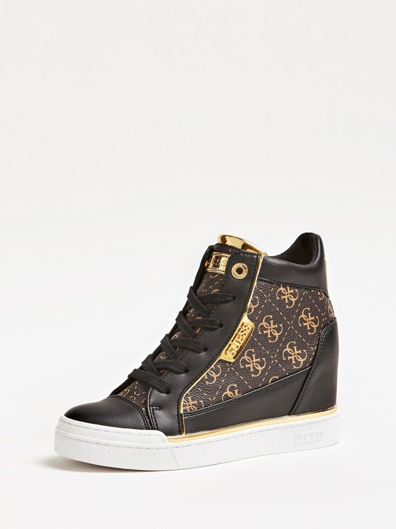 FABIA WEDGE SNEAKERS WITH LOGO image number 0