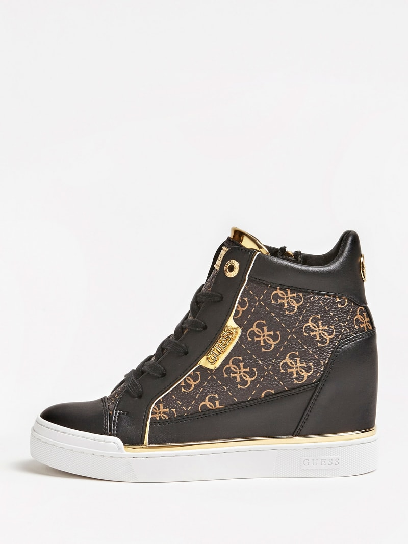 FABIA WEDGE SNEAKERS WITH LOGO image number 1