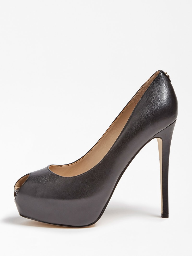 GIORGIA LEATHER PEEP-TOE COURT SHOE image number 1