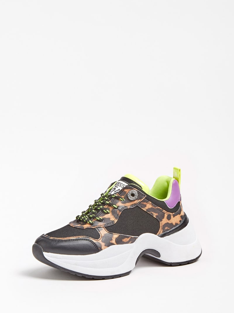 JULESS FAUX LEATHER ANIMALIER RUNNING SHOE image number 0