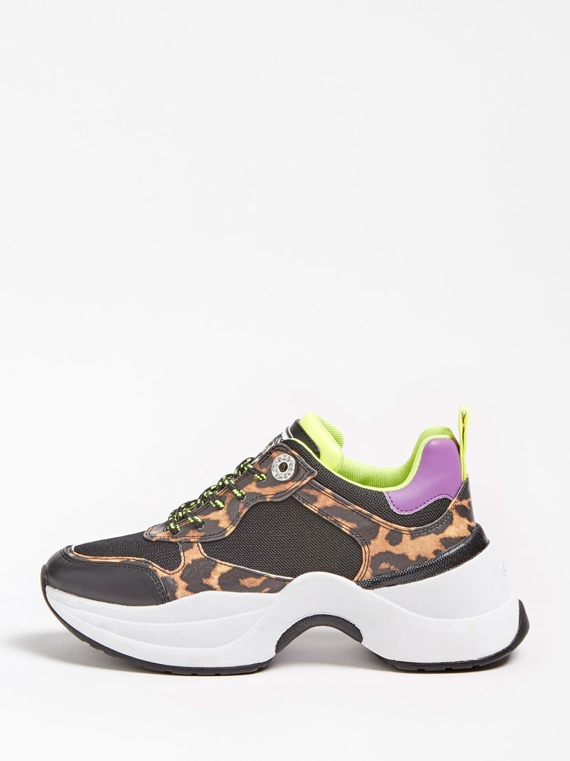 JULESS FAUX LEATHER ANIMALIER RUNNING SHOE image number 1