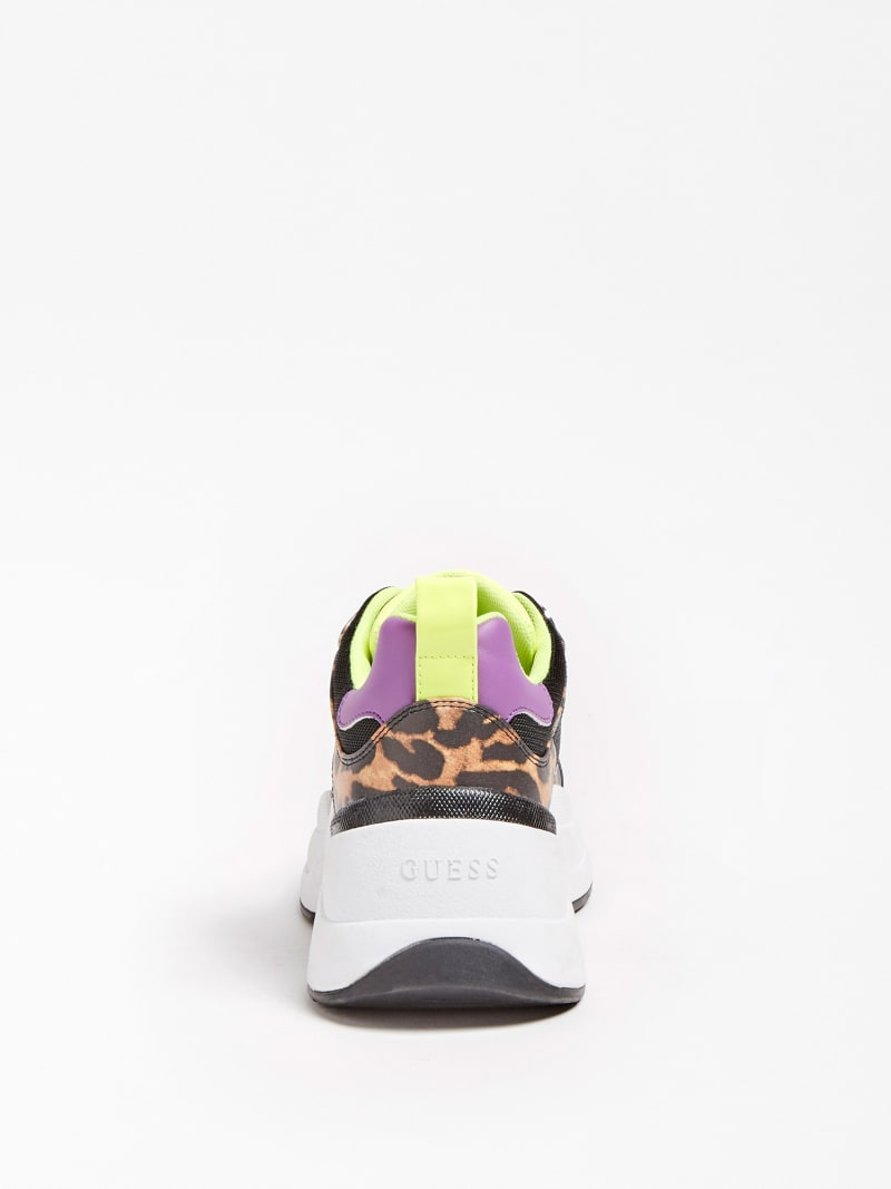 JULESS FAUX LEATHER ANIMALIER RUNNING SHOE image number 2