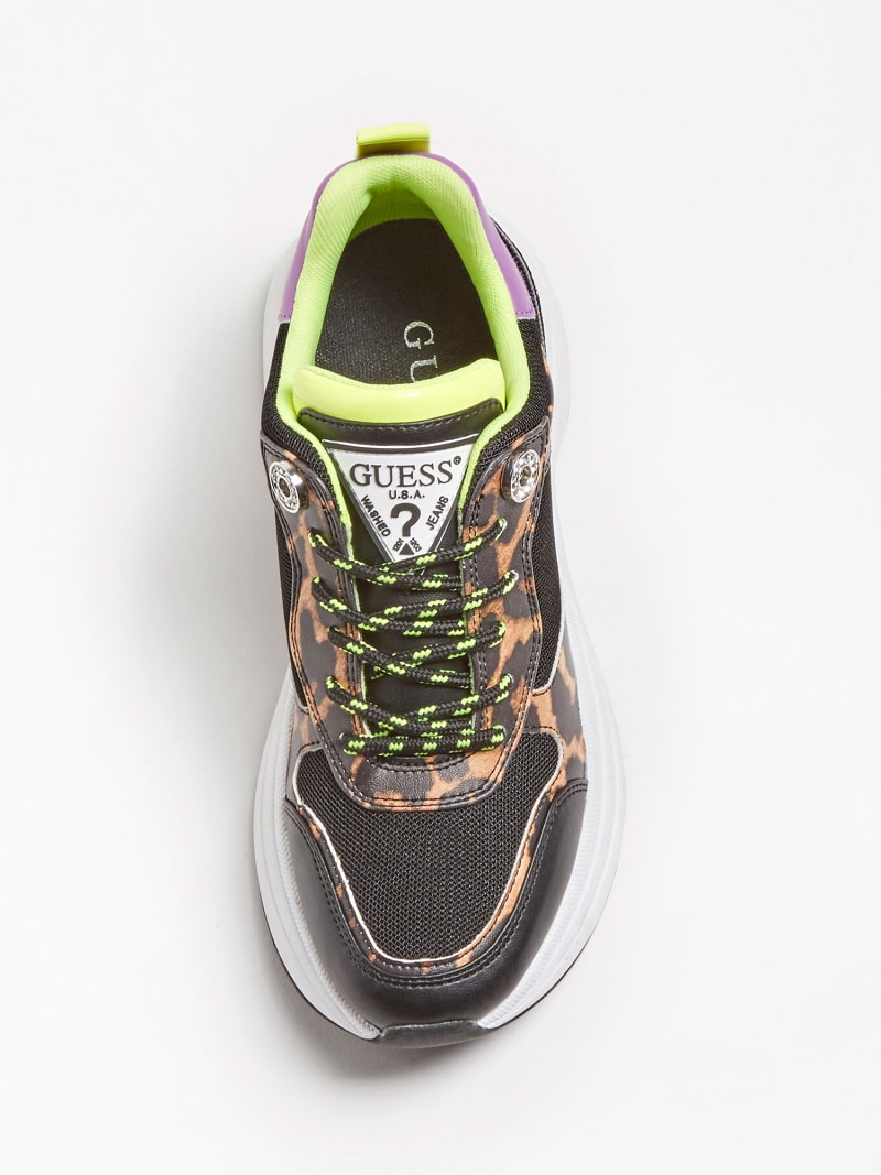 JULESS FAUX LEATHER ANIMALIER RUNNING SHOE image number 3